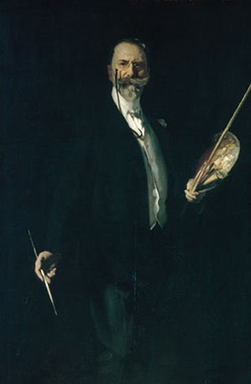 Sargent portrait of William Merritt Chase