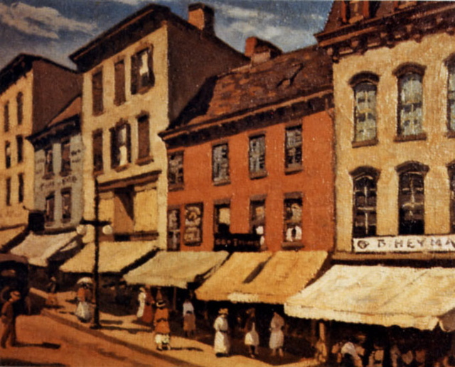 Chatterton Painting of Water Street, Newburgh, NY